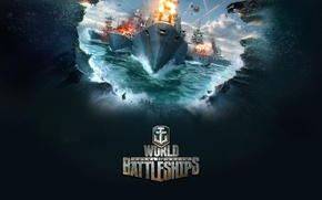 Picture sea, the game, ship, game, World fo Battleships