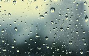 Wallpaper glass, overcast, Rain, window, drops