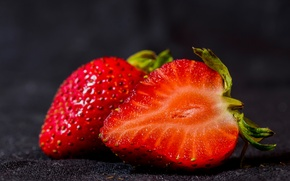 Picture strawberry, ripe, juicy