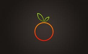 Wallpaper Background, Orange, Leaf