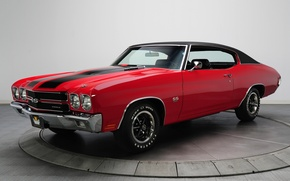 Picture red, background, Chevrolet, Chevrolet, 1970, the front, Chevelle, Muscle car, Hardtop, Muscle car, 396, Sevil