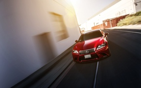 Picture Lexus, red, Lexus, front, GS350