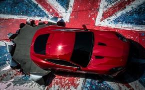 Picture Jaguar F-Type Coupe, Castle Bromwich, on the front of the jaguar factory