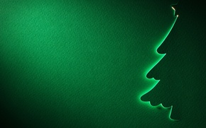 Picture star, tree, new year, texture, silhouette, green