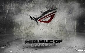 Picture logo, asus, republic of gamers