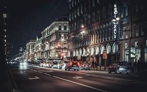 Picture night, street, Peter, Saint Petersburg, Russia, SPb, St. Petersburg, Nevsky Prospekt, spb