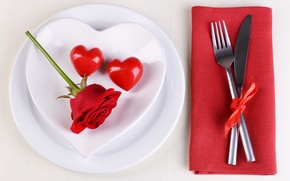 Picture love, romance, heart, plate, love, heart, romantic, Valentine's Day, serving