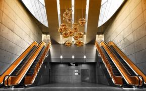 Picture style, the building, escalators, by Robin de Blanche, Heavy Set