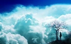 Picture dream, clouds, blue sky
