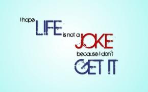 Wallpaper minimalism, Joke, Hope, Joke, Life, quote, minimalism, letters, letter, text, Hope, Life, words