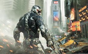 Wallpaper Crytek, Crisis, Crysis 2, The city