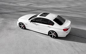 Picture BMW, white, wheels, F10, 5 Series, Vossen