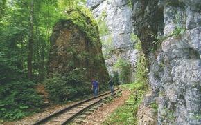 Picture Gorge, The Caucasus, Narrow-gauge railway