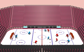 Picture box, black, washer, red, the time, team, NHL, minimalism., blue, ice, hockey players, hockey pitch, …