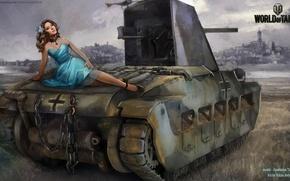 Picture girl, tank, girl, tanks, WoT, World of tanks, tank, tanks, Wargaming.Net, BigWorld, Nikita Bolyakov, World …