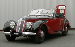Picture red, convertible, German, BMW 327 Sport-Cabriolet