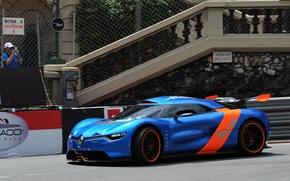 Picture the concept car, track, Renault, Alpine, A110-50, auto, Reno, Concept