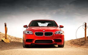 Picture Red, Desert, Red, Car, Car, Bmw, Wallpapers, F10, BMW, Wallpaper, The front, F10