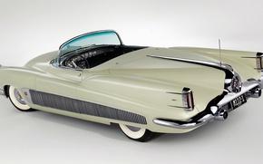 Picture retro, lights, convertible, limousine