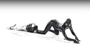 Wallpaper Black, Jumpsuit, Tube, Girl