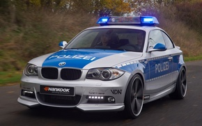Wallpaper auto, police, BMW