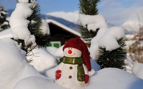 Wallpaper snowman, toy, holiday