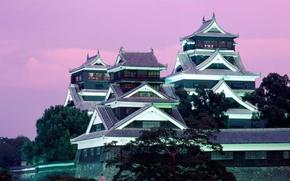 Wallpaper Kumamoto, Japan, Castle