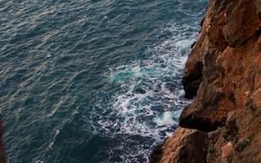 Picture sea, foam, water, stones, rocks, shore