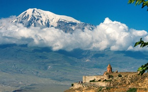 Wallpaper The sky, Nature, Clouds, Photo, Mountains, Snow, Mountain, Castle, Peak, Hill, Valley, Top, The slopes