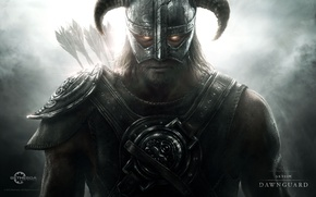 Wallpaper warrior, vampire, arrows, Skyrim, Dawnguard, The elder scrolls