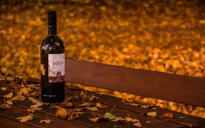 Picture autumn, wine, bench