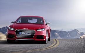 Picture road, mountains, Audi, markup, turn, 2014, TTS