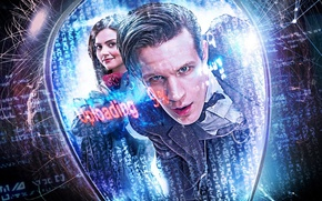Picture look, girl, smile, reflection, fiction, actress, face, actor, male, jacket, Doctor Who, Doctor Who, Matt …