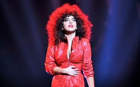 Picture girl, red, music, music, jazz, singer, red, celebrity, jazz, singer, Lady Gaga, Lady Gaga, Bang …