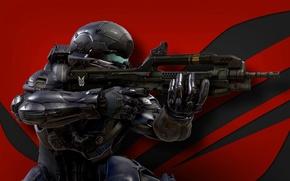 Picture Microsoft, wallpaper, gun, Halo, game, soldier, military, weapon, war, man, Xbox, Nanosuit, rifle, warrior, pearls, …