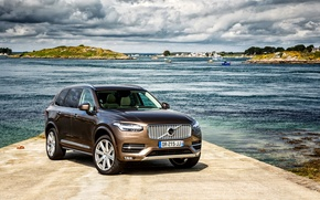 Wallpaper Volvo, XC90, Volvo, 2015, Inscription