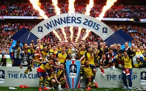 Picture 2015, victory, tribune, FA Cup, background, Arsenal, Arsenal, Football Club, the gunners, The Gunners, football ...