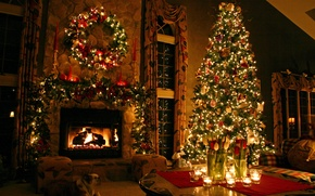 Picture tree, new year, Christmas, christmas, tree