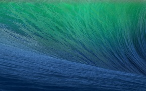 Picture sea, blue, green, Apple, wave, CA, Mac, California, wallpapers, Mavericks, OS X, 2013, WWDC, 10.9, ...