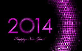 Picture pink, holiday, Wallpaper, figures, New year, New Year, 2014