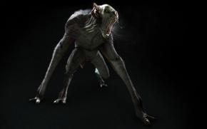 Wallpaper mouth, alien, monster