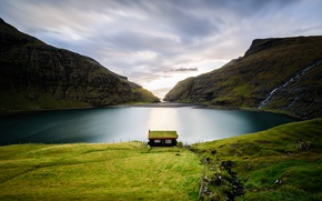 Picture Faroe Islands, Saken, Streymoy, very small village