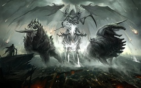 Wallpaper the demon, hero, rider, ruins