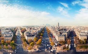 Picture autumn, the sky, the city, road, Paris, home, France