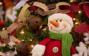 Picture decoration, toys, snowman, garland