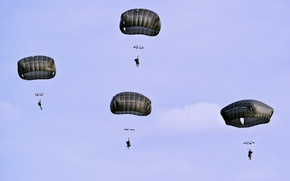 Wallpaper Training Area, U.S. Army Soldiers, T-11 parachutes