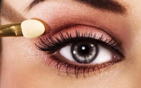 Wallpaper macro, eyes, eyelashes, photo, makeup, shadows, Make-up, beautiful eye
