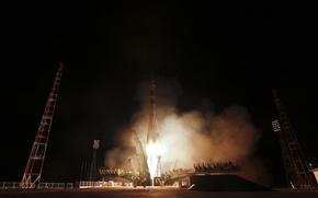 Picture rocket, start, Gagarin