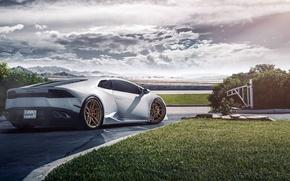 Picture Lamborghini, Houston, Matte, Texas, Wheels, Rear, ADV.1, Huracan, LP640-4, Bronze