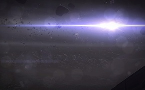 Picture the sun, space, light, Mass Effect, Kamet